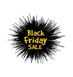 black friday in form a star drawn in the vector image
