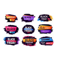 black friday sale collection vector image