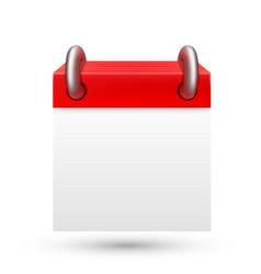 Blank calendar on white background vector
