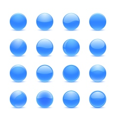 Blue round buttons vector image