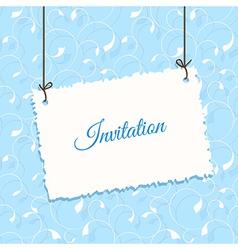 Blue vintage card design vector image