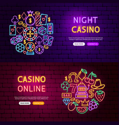 casino website banners vector image