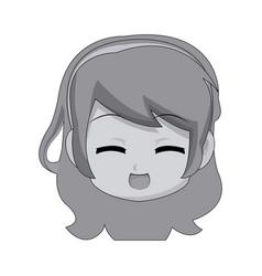 Cute cartoon anime chibi girl image vector