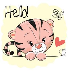 Cute drawing tiger vector