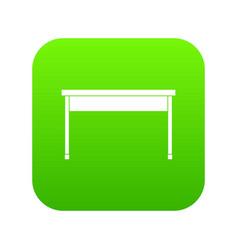 desk icon digital green vector image