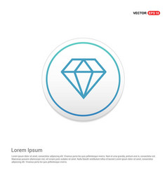 Diamond icon hexa white background icon template vector