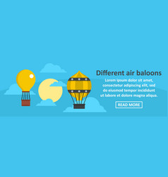 different air balloons banner horizontal concept vector image