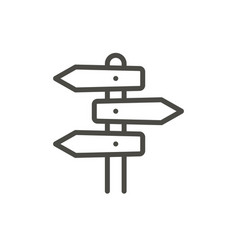 direction road icon line signpost symbol i vector image