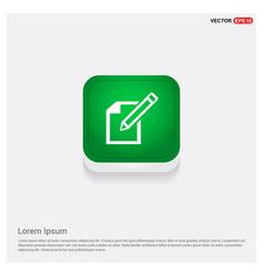 Edit pencil icon green web button vector