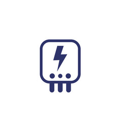 Electric power control system icon vector