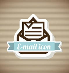 Email design over beige background vector