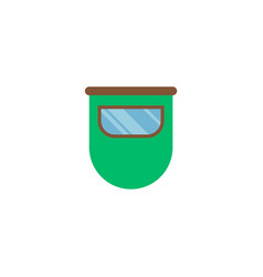 Face guard icon flat element vector