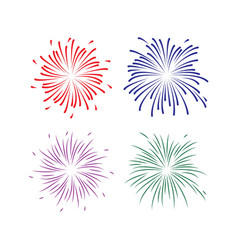 fireworks template design vector image