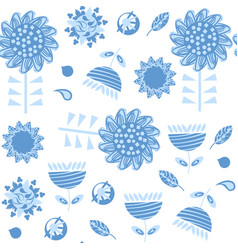 floral seamless pattern it is located in swatch vector image