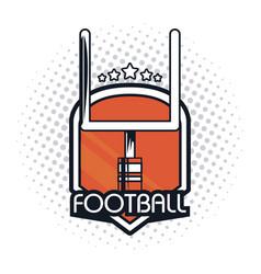 Football goalpost icon vector