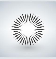 Geometric circle element made radiating shapes vector