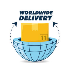 global box package to delivery service vector image