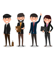 group of business people team employee and boss vector image vector image