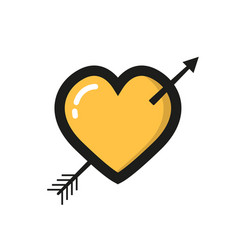 heart icon in a flat style on white background vector image