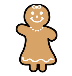 isolated christmas gingerbread vector image