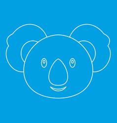 Koala icon outline style vector