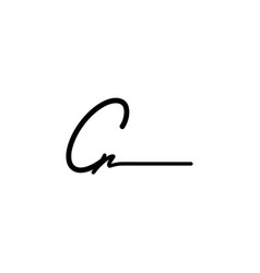letter cr signature logo template vector image