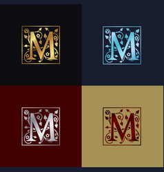 letter m decorative logo vector image