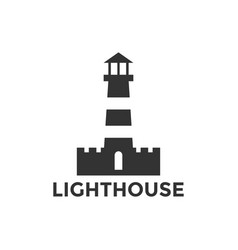 lighthouse logo design inspiration vector image