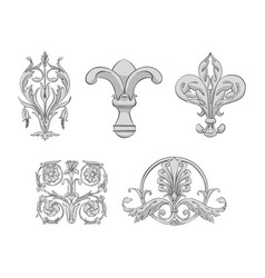 luxury elements of rich decoration vector image