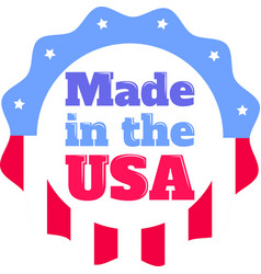 made in usa on white background vector image