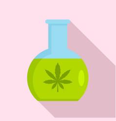 Marijuana flask icon flat style vector