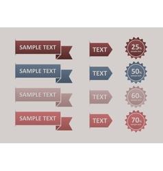 Modern Design button vector image