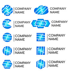 modern programmers developers technical logos set vector image