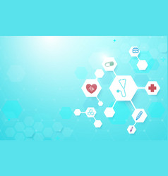 molecular structure with medicine and science vector image