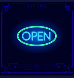 open shop 247 neon light sign vector image