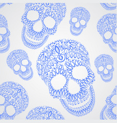 Ornamental pattern skull seamless texture vector