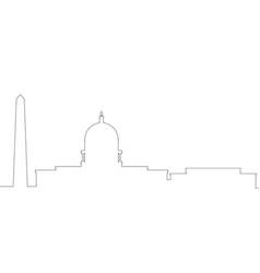 Outline a washington cityscape vector