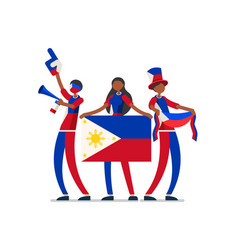 philippine with philippines flag symbol vector image