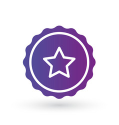 purple gradient smooth edged burst badge seal or vector image