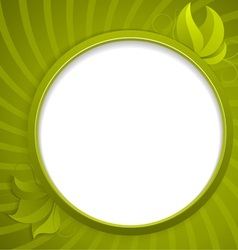 Round design element for information vector image