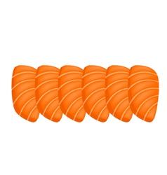 Salmon Sashimi or Sake Sashimi on White Background vector image