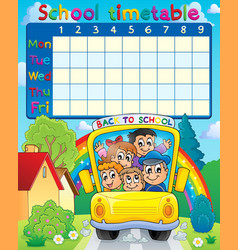 School timetable topic image 3 vector