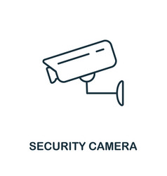 security camera thin line icon creative simple vector image