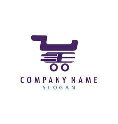 Shopping cart logo vector