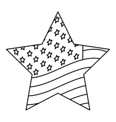 Silhouette star of usa flag design vector
