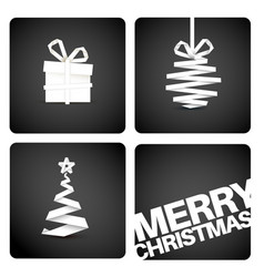 simple original christmas new year card vector image vector image