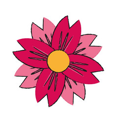 single pink flower icon image vector image