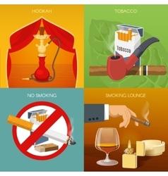 Smoking tobacco compositions vector