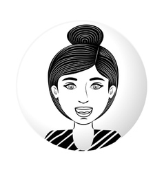 sphere half body teen with collected hair vector image
