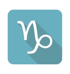 Square Capricorn icon vector